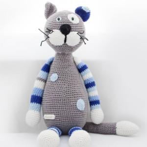 makuka - háčkovaná hračka - mačka