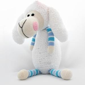 makuka - háčkovaná hračka - ovca