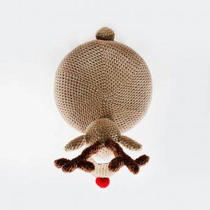 makuka - háčkovaná taburetka sob Oli