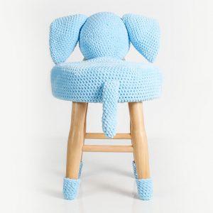 makuka - háčkovaná taburetka slon
