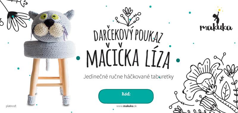 makuka - háčkovaná taburetka macicka liza