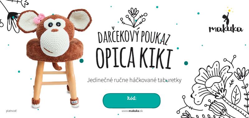 makuka - háčkovaná taburetka opica kiki