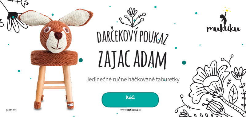 makuka - háčkovaná taburetka zajac adam