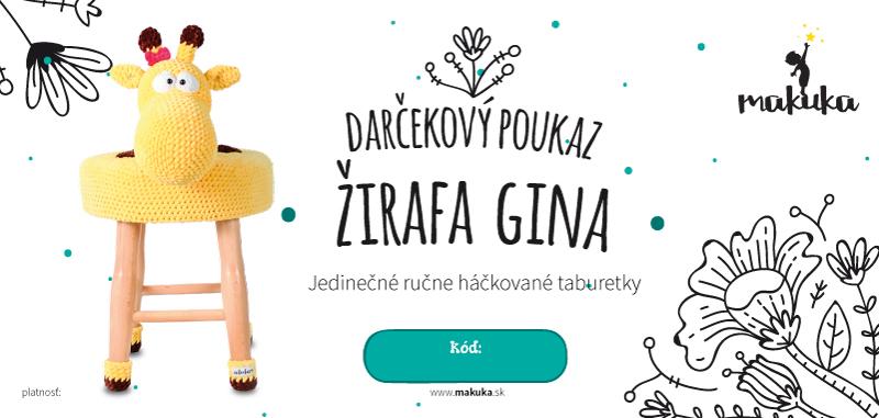 makuka - háčkovaná taburetka zirafa gina
